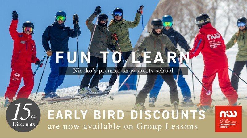 NISS 新雪谷滑雪課程早鳥優惠 85折優惠