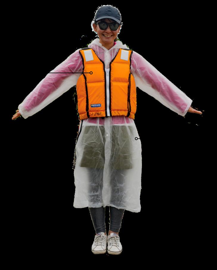 海上垂釣之旅的專用服飾 花園度假村 北海道
