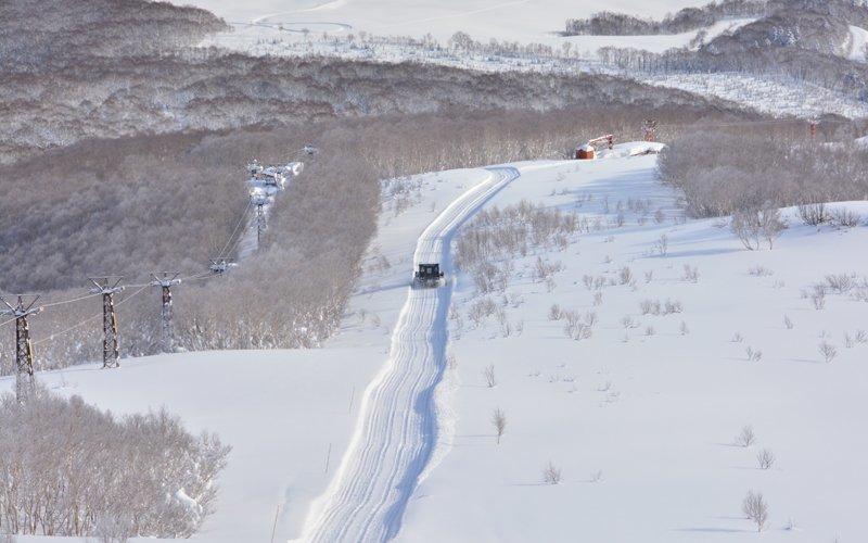上から見たニセコのスキー場