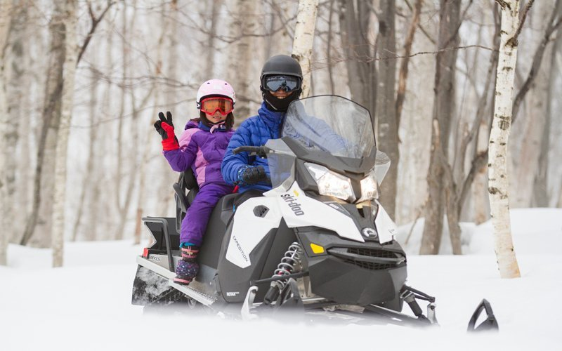 easter is the perfect time to snowmobile at hanazono with the family