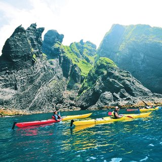 Mid-summer adventure: canyoning and sea kayaking