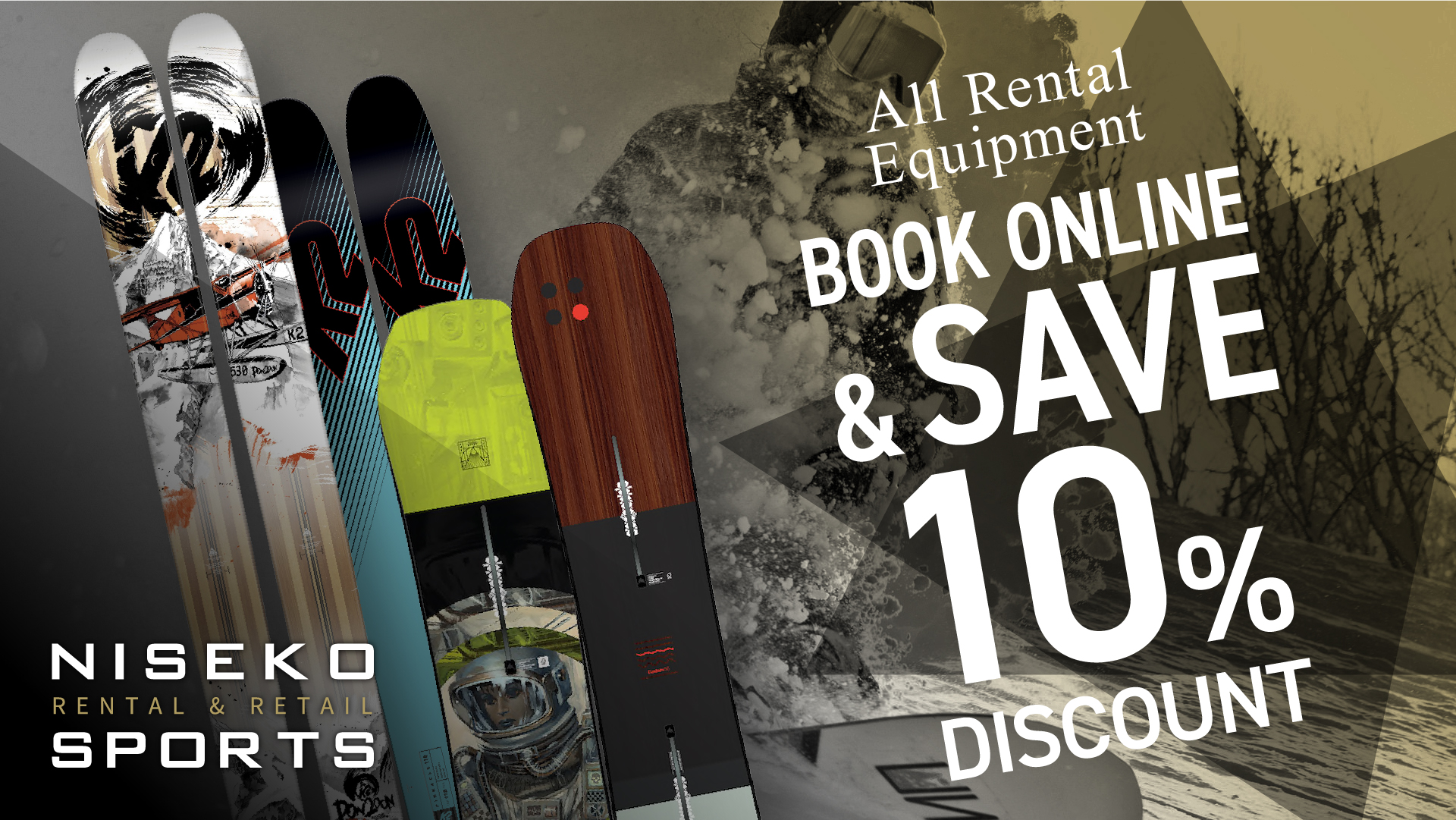 niseko sports early bird specials rental